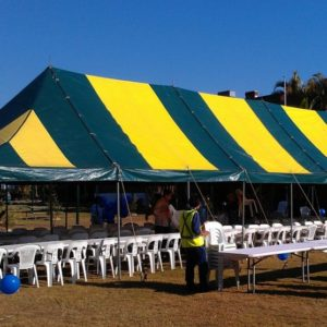 Marquee 5.4m x 16.5m (18' x 54') Peg and Pole