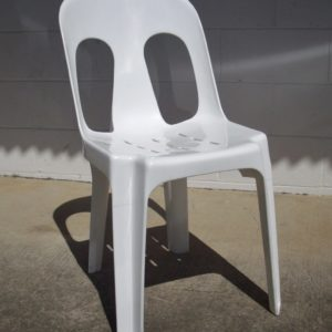 Chair, White Wedding Stacking