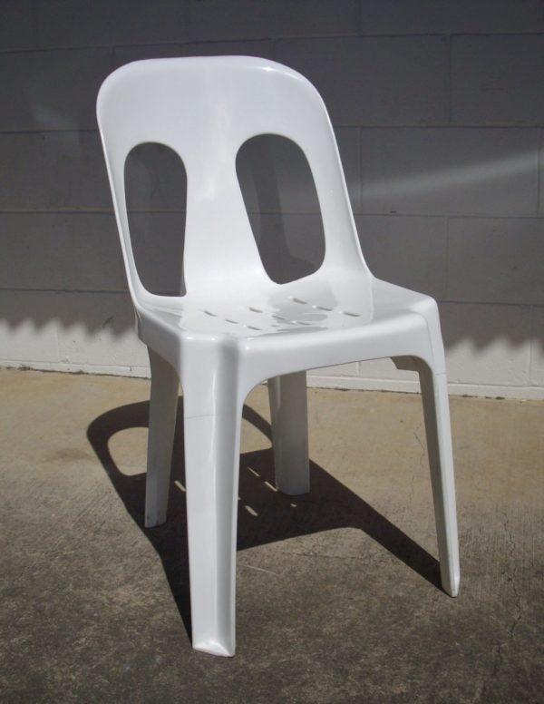 Chair, White Wedding Stacking