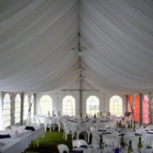 Marquee silk liner, 6m x 18m
