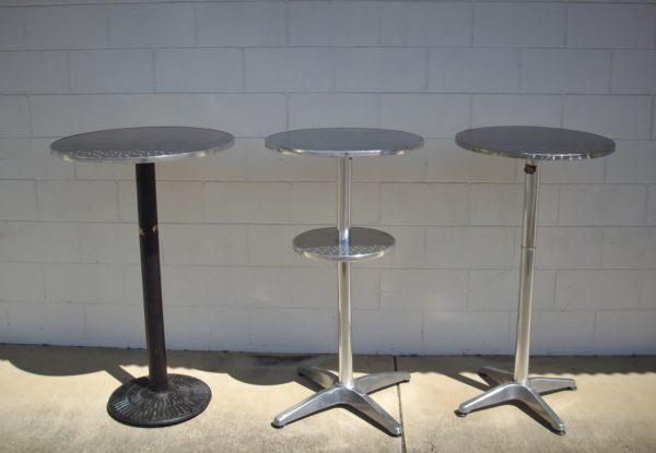 Table, Dry Bar (round top 1.15m high .7m wide top Black leg)