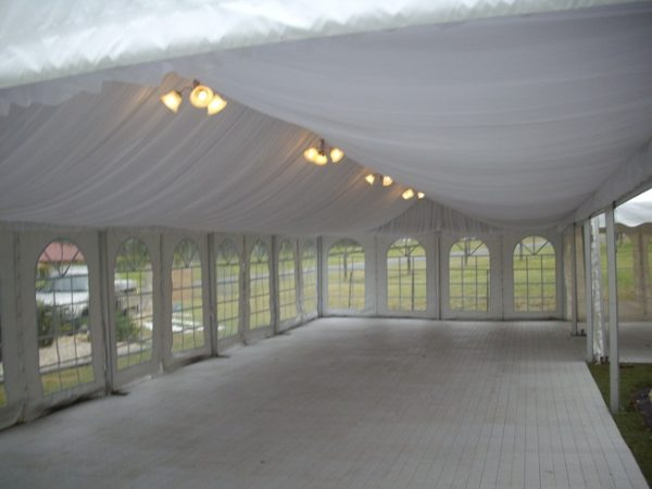 Marquee silk liner, 6m x 15m