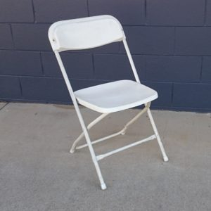 Chair, White Folding Budget