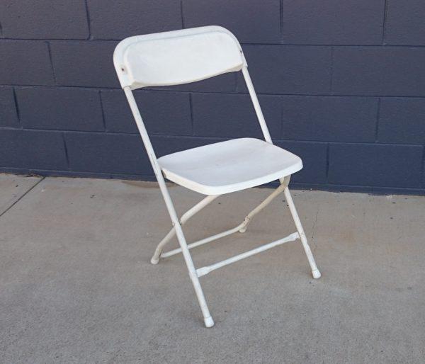 Chair, White Folding Budget
