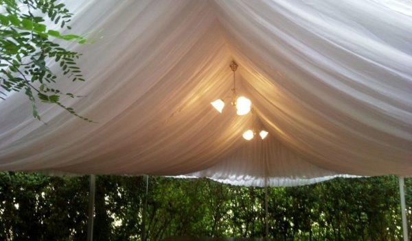 Marquee silk liner, 6m x 9m